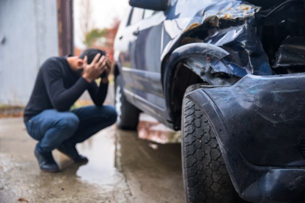 Man stressing out because of hit and run
